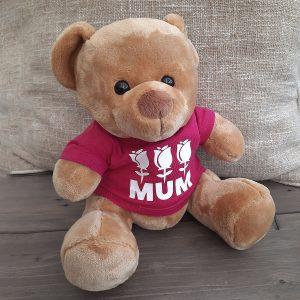Mum Velvet Teddy Pink